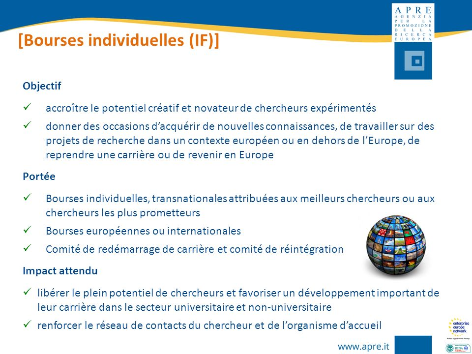 [Bourses individuelles (IF)]